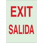 Brady 90157, 14″ x 10″ Polyester Exit Sign, Red on Glow