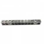 Morris 91148, 2/0 to #14 AWG 6 Circuit Aluminum Ground/Neutral Bar