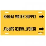 Brady 94963, Strap-On Pipe Marker: Reheat Water Supply