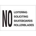 Brady 95417, Soliciting Skateboards Rollerblades Sign