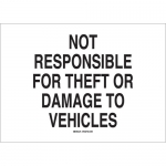 Brady 95456, Theft or Damage To Vehicles Sign