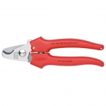 Knipex 95 05 165, Cable Shears for 10 mm Copper Cable, Plastic Coated