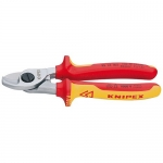 Knipex 95 16 165, Chrome Plated Insulated Cable Shears
