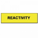 Brady 99113, Blank Write-On Container Lbl (Reactivity) Sign