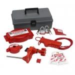 Brady 99324, Gate Valve Lockout Toolbox Kit with Steel Padlocks