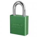 Master Lock A1205KAMKWR7GRN, American Lock 1205 Aluminum Padlock