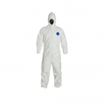DuPont D13398184, Tyvek 400 Coverall, Hood, Elastic Wrists and Ankles