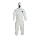 DuPont D13493586, Tyvek 400 Coverall, Hood, Elastic Wrists and Ankles