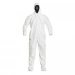 DuPont D14247952, IsoClean Coverall, Serged, Elastic Hood, Boots, 2XL