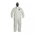 DuPont D14364696, ProShield 60 Coverall, Hood, Serged, LG