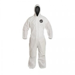 DuPont D14997266, ProShield 10 Coverall, Hood, Serged, LG