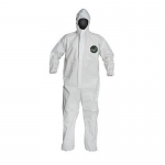 DuPont D15461910, ProShield 50 Coverall, Hood, Serged, LG