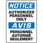 """Accuform FBMADC802VP, Notice Sign """"Authorized Personnel Only"""""""