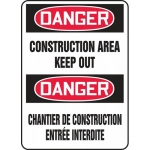 "Accuform FBMADM014VP, Sign ""Danger, Construction Area Keep Out"""