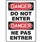 "Accuform FBMADM139VP, Plastic Bilingual Danger Sign ""Do Not Enter"""