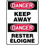 "Accuform FBMADM144VP, Plastic Bilingual Danger Sign ""Keep Away"""