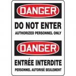 "Accuform FBMADM157VS, Bilingual Danger Sign ""Do Not Enter – Author…"""