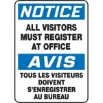 """Accuform FBMADM893XL, Notice Sign """"All Visitors Must Register…"""""""