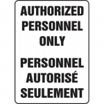 "Accuform FBMADM973XP, Bilingual Sign ""Authorized Personnel Only"""