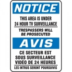 """Accuform FBMASE812XF, Bilingual Notice Sign """"This Area Is Under…"""""""