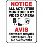 """Accuform FBMASE817XV, Bilingual Sign """"Notice – All Activities Mon…"""""""