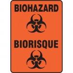 "Accuform FBMBHZ530XF, Dura-Fiberglass Bilingual Sign ""Biohazard"""