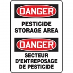 "Accuform FBMCAW109XV, Bilingual Sign ""Danger, Pesticide Storage Area"""