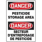 "Accuform FBMCAW116VP, Bilingual Sign ""Danger, Pesticide Storage Area"""