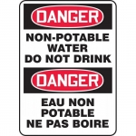 "Accuform FBMCAW125XP, Sign ""Danger, Non-Potable Water Do Not Drink"""