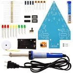 Elenco K-14SLD, Christmas Tree Soldering Kit with Iron and Solder