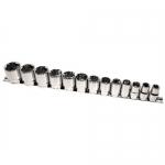 K Tool International KTI23110, 1/2in Drive, SAE Shallow Socket Set