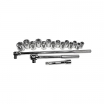 K Tool International KTI28000, 1/2in Drive, 6 Point, Metric Socket Set