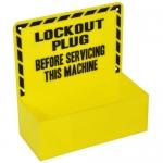 Brady LC228E, Plug Lockout Station, Black on Yellow