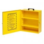 Brady LC252M, 45533 16″ x 14″ x 6″ Yellow Metal Lockout Cabinet