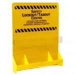 Brady LC501E, 45554 30″ x 23.75″ Lockout Board, Black on Yellow