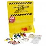 Brady LC502E, 45555 30″ x 23.75″ Large Lockout Center, Black on Yellow