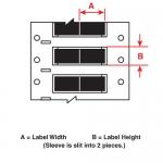 Brady 3FR-094-2-BK-S-2, 133363 Wire Marking Sleeve