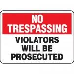 "Accuform MATR901XL, Aluma-Lite Sign ""Violators Will Be Prosecuted"""