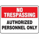 """Accuform MATR903XT, Dura-Plastic Sign """"Authorized Personnel Only"""""""