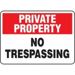 """Accuform MATR963XL, Aluma-Lite Sign with Legend """"No Trespassing"""""""