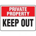 "Accuform MATR965XL, 10″ x 14″ Aluma-Lite Sign with Legend: ""Keep Out"""