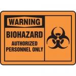 "Accuform MBHZ301VP, OSHA Sign ""Biohazard Authorized Personnel Only"""