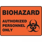 "Accuform MBHZ504VA, Aluminum OSHA Sign ""Authorized Personnel Only"""