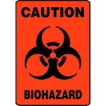 "Accuform MBHZ522VS, Adhesive Vinyl OSHA Sign ""Caution Biohazard"""