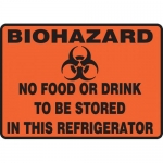 """Accuform MBHZ528XF, Sign """"No Food or Drink to Be Stored in This …"""""""