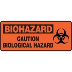 "Accuform MBHZ529XT, Dura-Plastic Sign ""Caution Biological Hazard"""