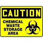 "Accuform MBHZ605VP, Plastic OSHA Sign ""Chemical Waste Storage Area"""