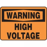 "Accuform MELC326VP, Plastic OSHA Sign ""Warning High Voltage"""