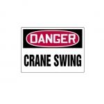 "Accuform MEQM120XT, 10″ x 14″ Dura-Plastic Sign: ""Danger Crane Swing"""