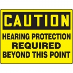 """Accuform MPPE781XT, BIGSigns Sign """"Caution – Hearing Protection …"""""""